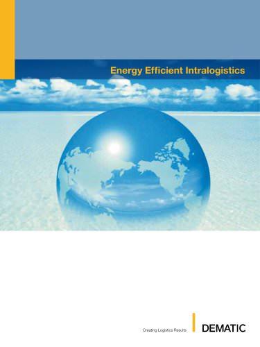 Energy efficient Intralogistics