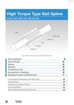 High Torque Type Ball Spline Models LBS, LBST, LBF, LBR and LBH