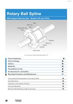 Rotary Ball Spline With Support Bearing Type Models LTR and LTR-A