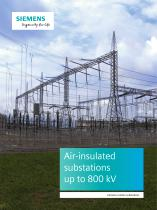 Air-insulated substations up to 800 kV