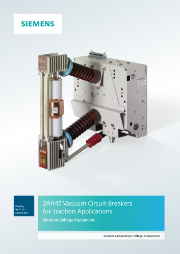 3AH47 Vacuum Circuit-Breakers for Traction Applications