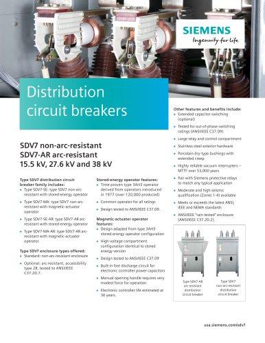 Distribution circuit breakers