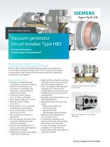HB3 - Vacuum generator circuit-breaker