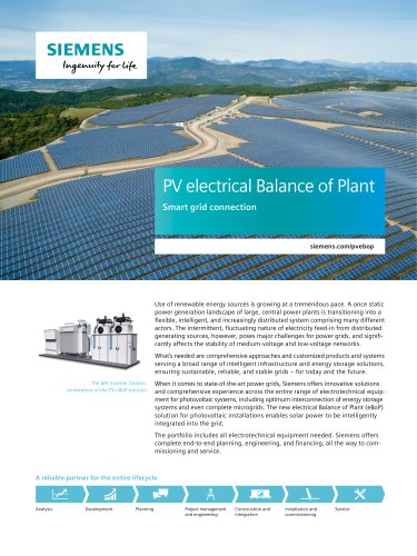 PV electrical Balance of Plant