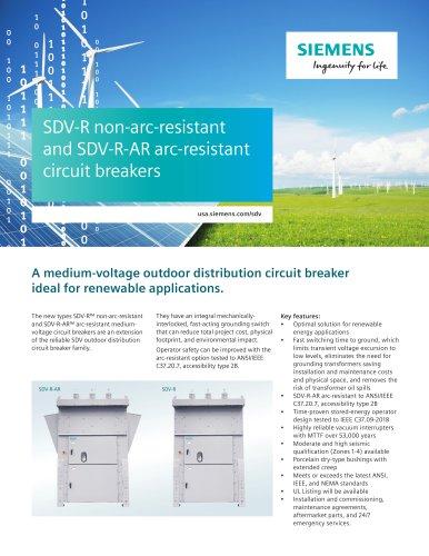 SDV-R non-arc-resistant and SDV-R-AR arc-resistant circuit breakers