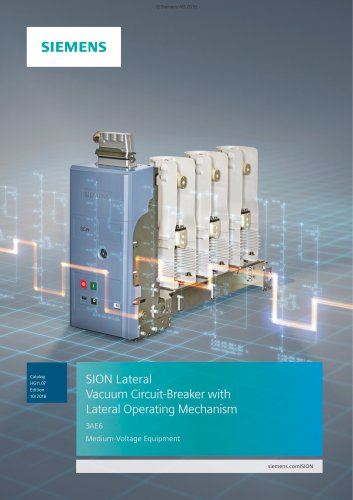 SION Lateral Vacuum Circuit-Breaker with Lateral Operating Mechanism