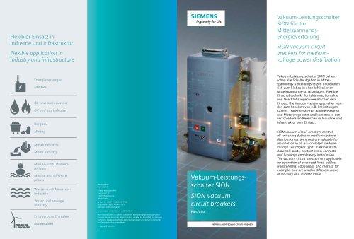 SION  - vacuum circuit breakers for medium- voltage power distribution