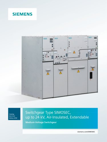 Switchgear Type SIMOSEC, up to 24 kV, Air-Insulated, Extendable