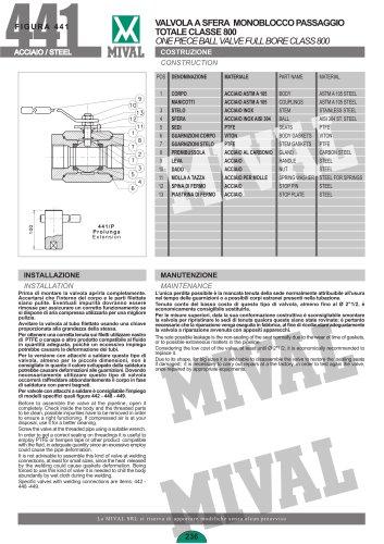 Ball valve – Item 441