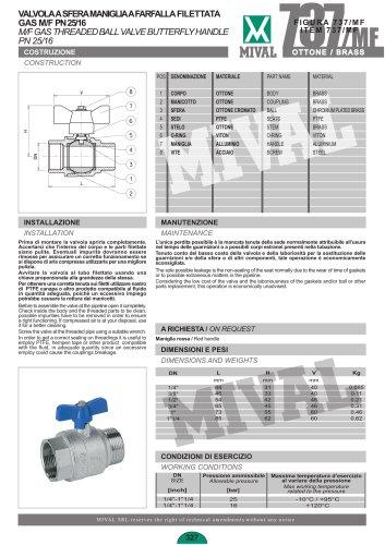 Ball valve – Item 737/MF