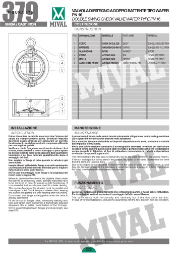 Double Swing Check Valves