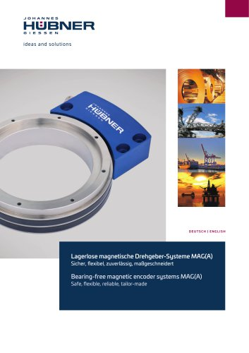 Bearing-free magnetic encoder systems MAG(A)