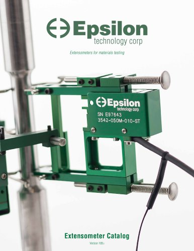 Epsilon Technology extensometer catalog - ver. 109