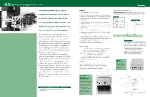 Model 3648 High Temperature Capacitive Extensometer