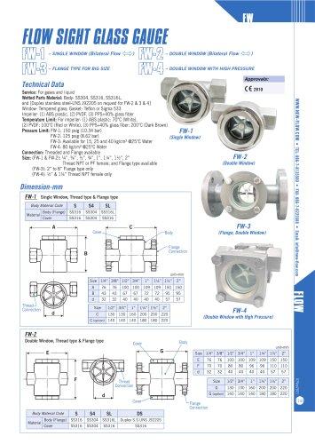 flow sight glass gauge