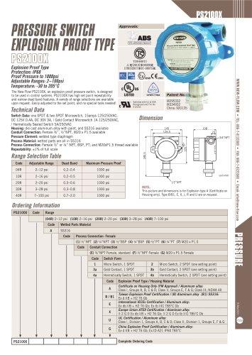 PS2100X(Pressure Switch)
