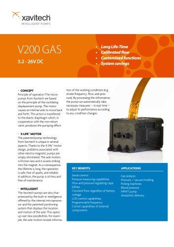 V200 0-480ml/min & -450mbar