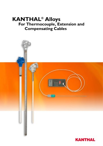 Thermocouple wire and strip