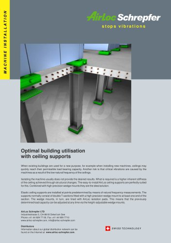 Ceiling supports - Reduce ceiling vibrations