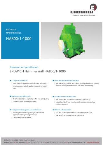 Hammer mill HA800