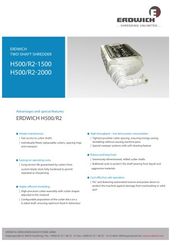 Two-Shaft Shredder H500/2