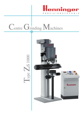 Centre Grinding Machines Type ZS 1000