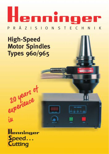 High-Speed Motor Spindles Types 960/965