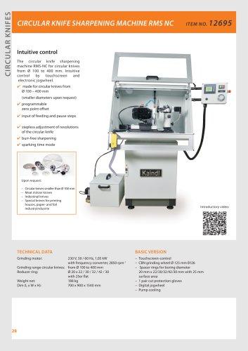 Circular knife sharpening machine RMS-NC