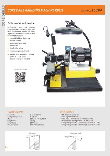CORE DRILL GRINDING MACHINE KBS/2