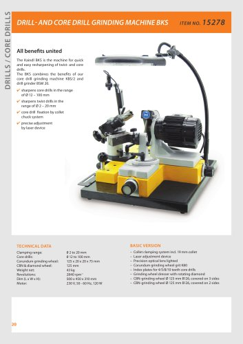 DRILL- AND CORE DRILL GRINDING MACHINE BKS