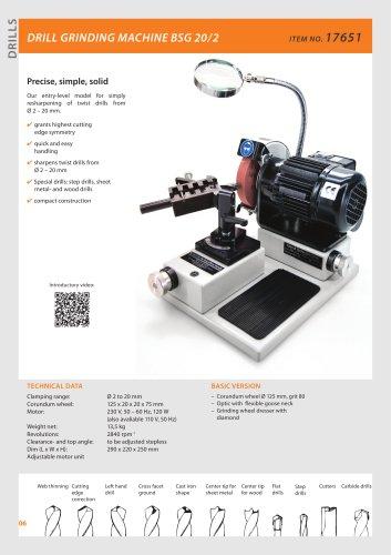 DRILL GRINDING MACHINE BSG 20/2 new