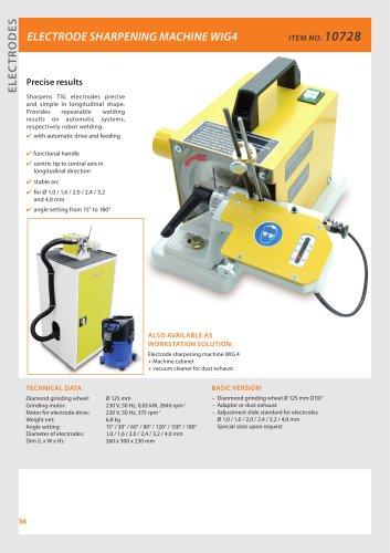 Electrode sharpening machine WIG 4