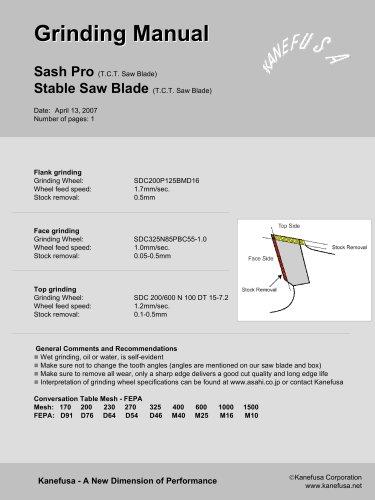 Sash Pro/Stable Saw Blade