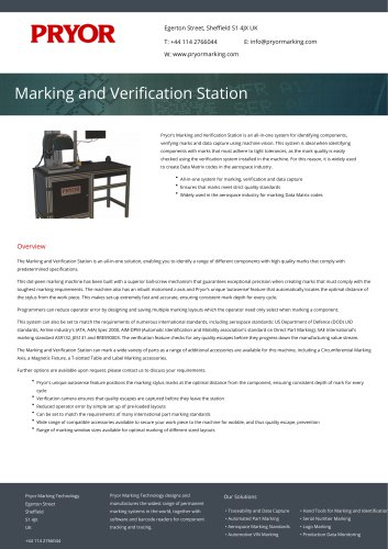 Marking and Verification Station