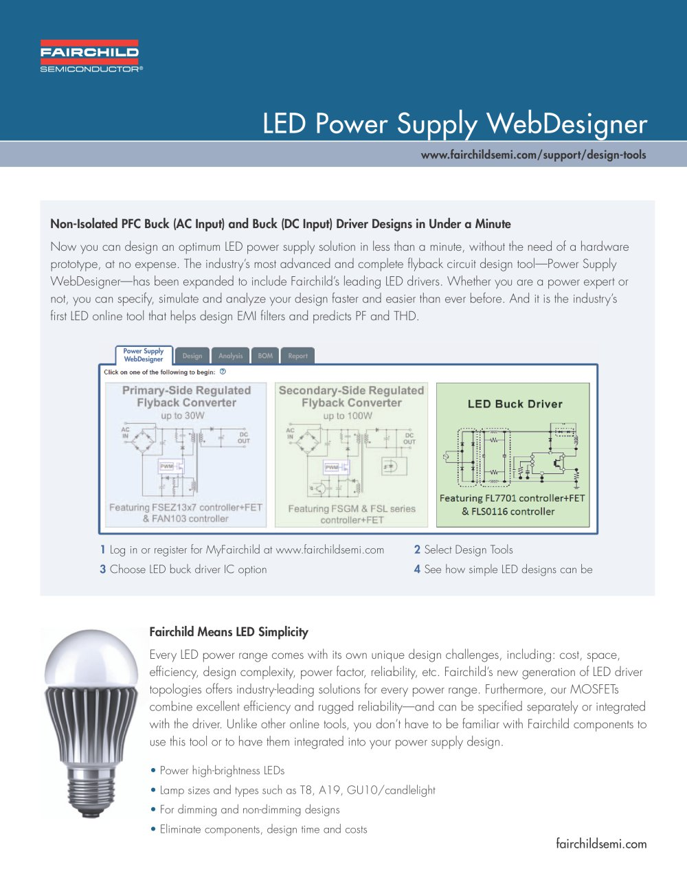 Led Power Supply Webdesigner Product Overview Fairchild Buck Driver Circuit 1 2 Pages