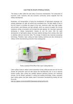 Farley Laserlab Laser Cutting Machine Help Railway Industry