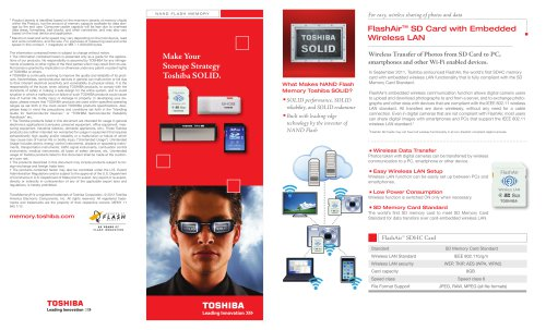FlashAir SD Card with Embedded Wireless LAN