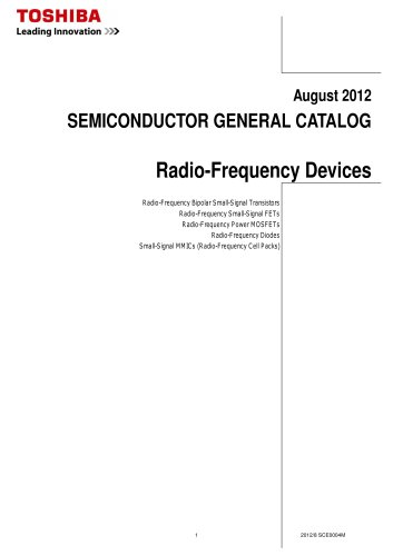 General Catalog (Radio-Frequency Devices)