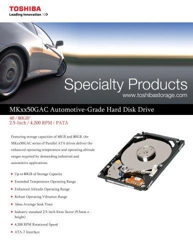 MKxx50GAC Automotive-Grade Hard Disk Drive