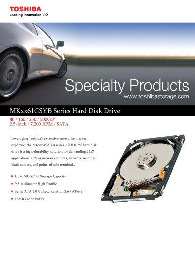 MKxx6lGSYB Series Hard Disk Drive