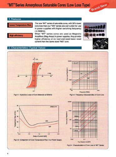 """MT Series Amorphous Saturable Cores (Low Loss Type)"