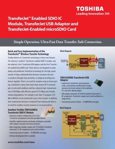 TransferJet? Enabled SDIO IC Module, TransferJet USB Adaptor and TransferJet-Enabled microSDIO Card