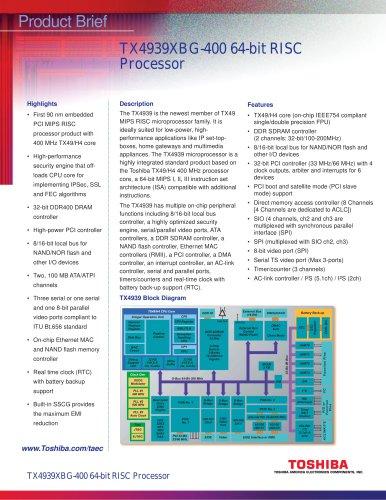 TX4939XBG-400 64-bit RISC Processor