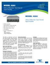 MODEL 9260 34Vp-p Differential / Dual Channel Signal Amplifier