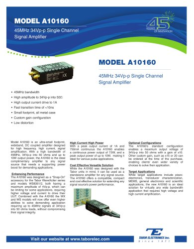 Model A10160 45MHz 34Vp-p Single Channel Signal Amplifier