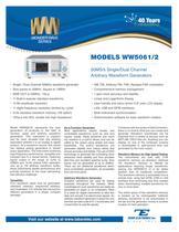 Model WW5061/2 50MS/s Single/Dual Channel Arbitrary Waveform Function Generator