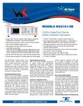 Model WX2182B  2.3GS/s Dual-Channel Arbitrary Waveform Generator