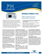 MODELS PM8571/2A 50MHz Single/Dual Channel Pulse Waveform Generators