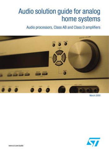 Audio solution guide for analog  home systems