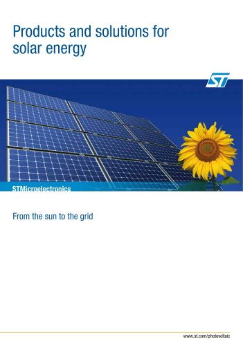 Products and solutions for solar energy
